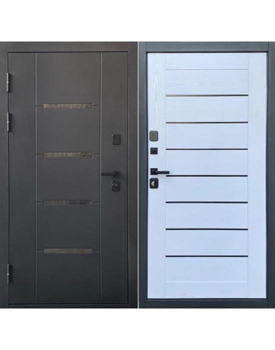 Входная дверь Форпост Эльбрус Царга Black Edition/белое дерево