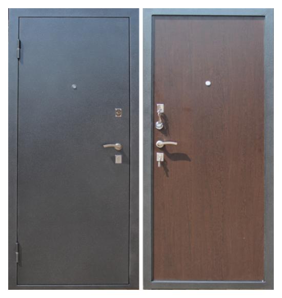 дверь входная металлическая серебро