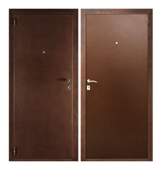 металлические двери двух