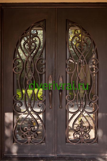 красивые кованные железные двери
